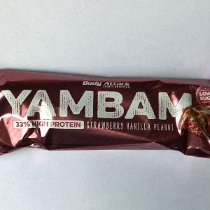 Body Attack YAMBAM Bar Strawberry Vanilla Peanut