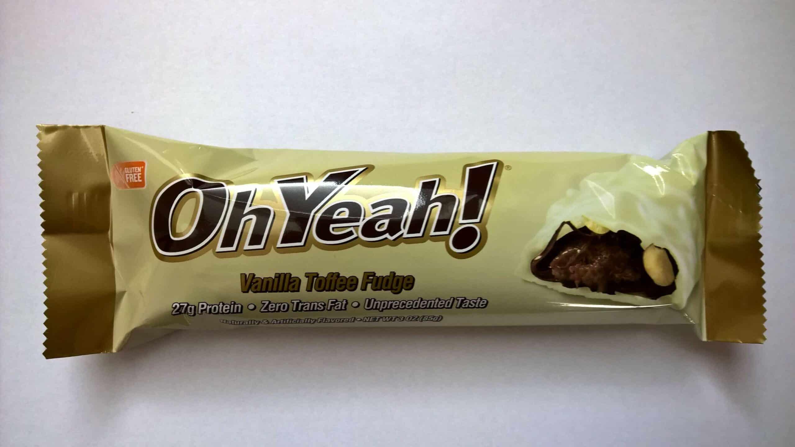 Test ISS Oh Yeah Protein Riegel Vanilla Toffee Fudge