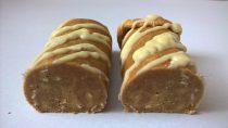 Labrada Hi-Protein Cookie Roll Cinnamon Bun zerteilt