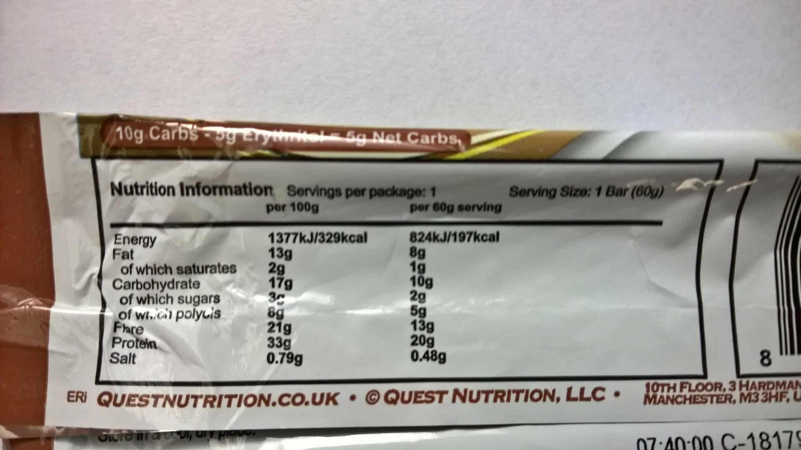 Test Quest Nutrition Quest Bar Banana Nut Muffin